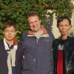 David und Mr Chen mit Werner am Schloss Rheda