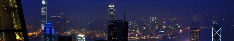 HongKong The Peak - Night Skyline